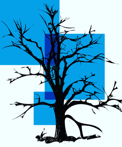 Graphic tree - blue