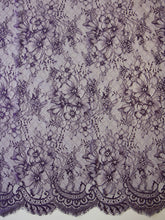 Load image into Gallery viewer, Aubergine Raschel Lace - Clio