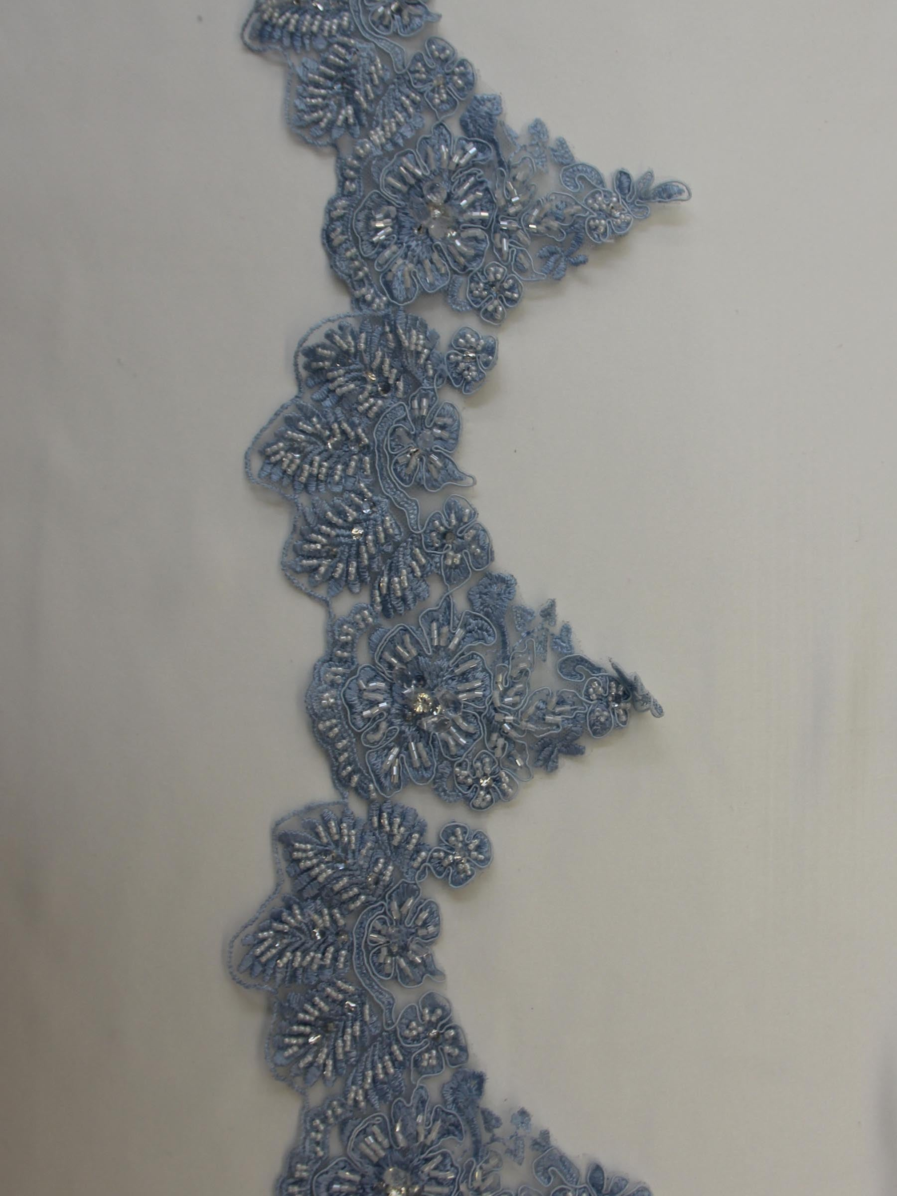 China Blue Lace Trim - Chelsea.