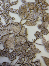 Load image into Gallery viewer, Coffee Embroidery Lace - Garbo