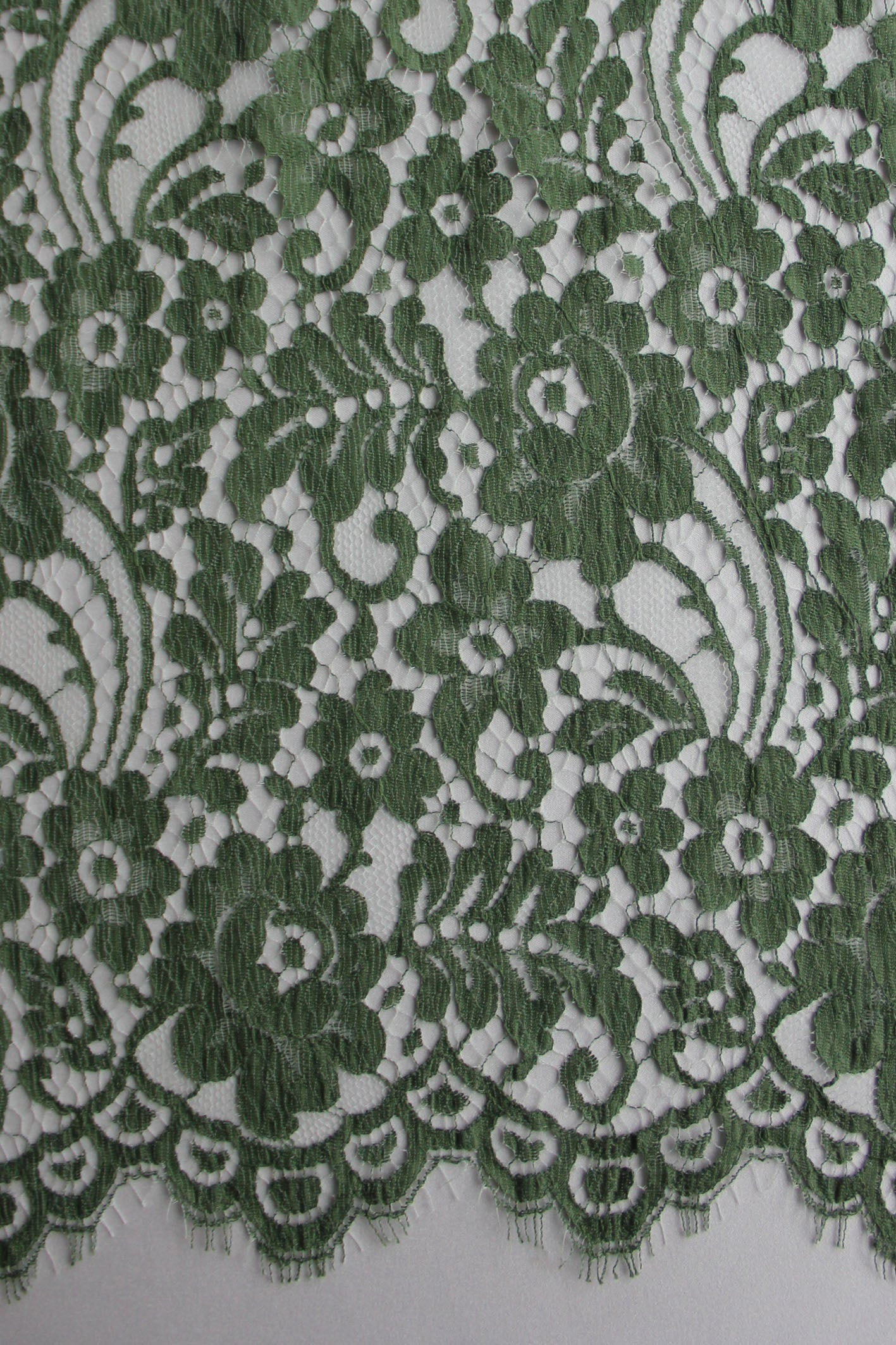 Dark Green Lace - Jemima.