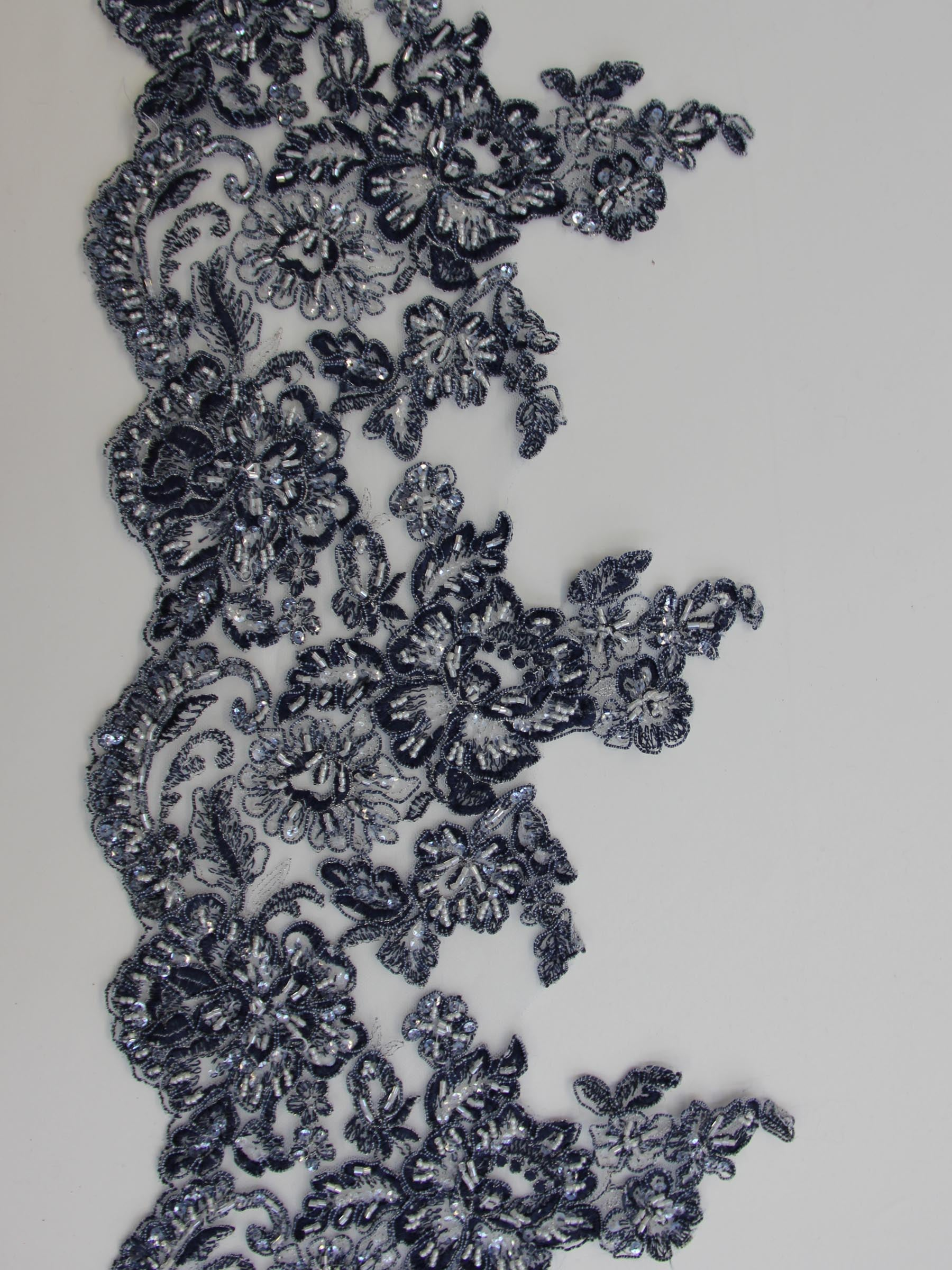 French Blue Lace Trim - Victoria.