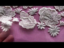Load and play video in Gallery viewer, Ivory Embroidered Lace - Thora