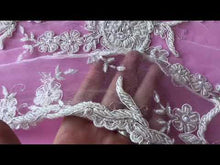 Load and play video in Gallery viewer, Ivory Beaded Lace - Pamela