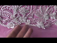 Load and play video in Gallery viewer, Ivory Embroidered Lace – Vera