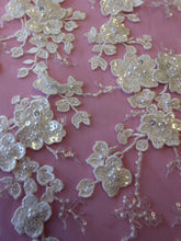 Load image into Gallery viewer, Ivory Beaded 3D Lace - Erwin