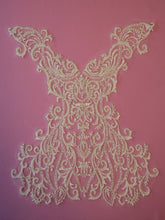 Load image into Gallery viewer, Ivory Beaded Lace Applique - Cayenne