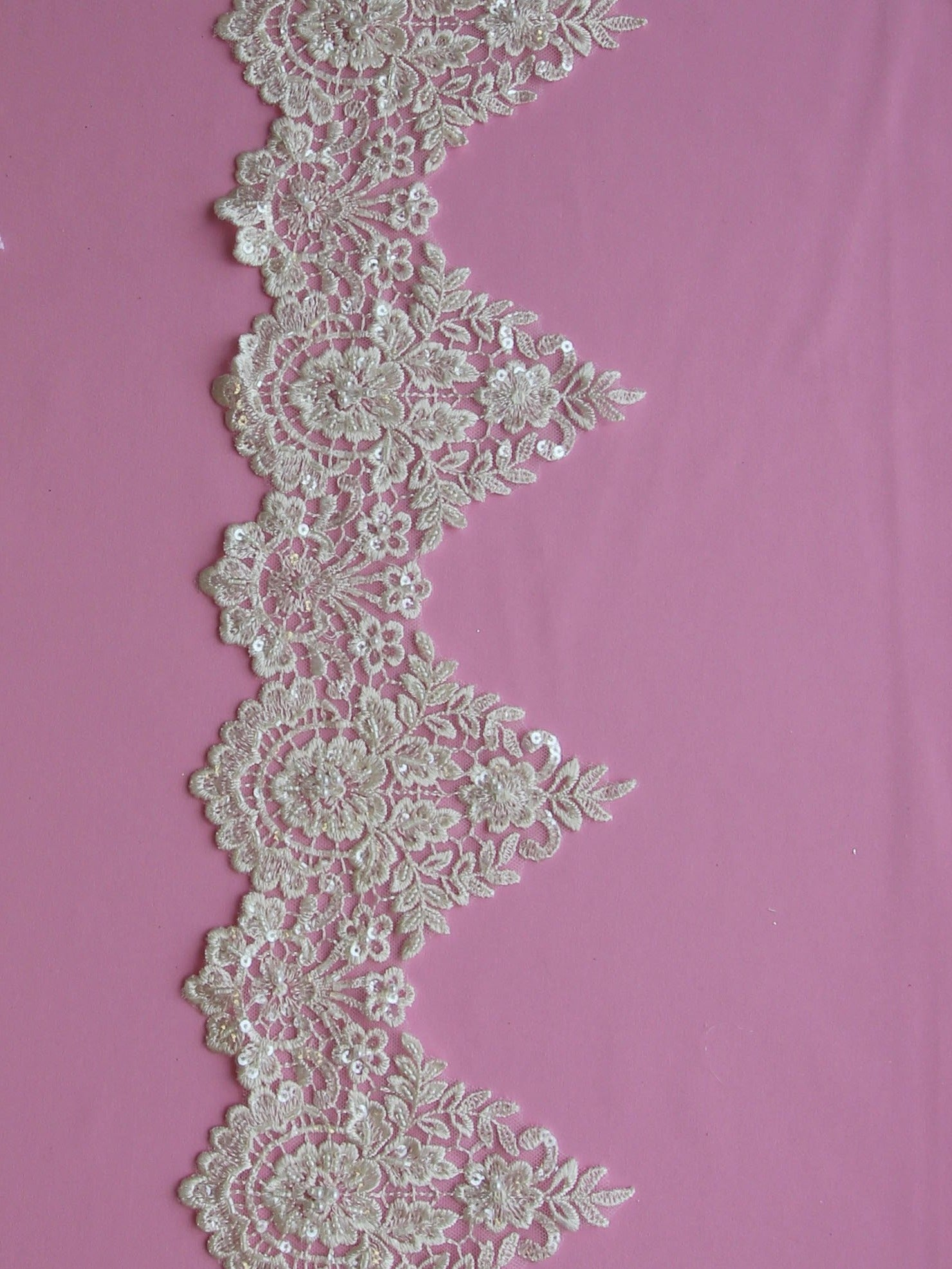 Ivory Beaded Lace Trim - Hazel