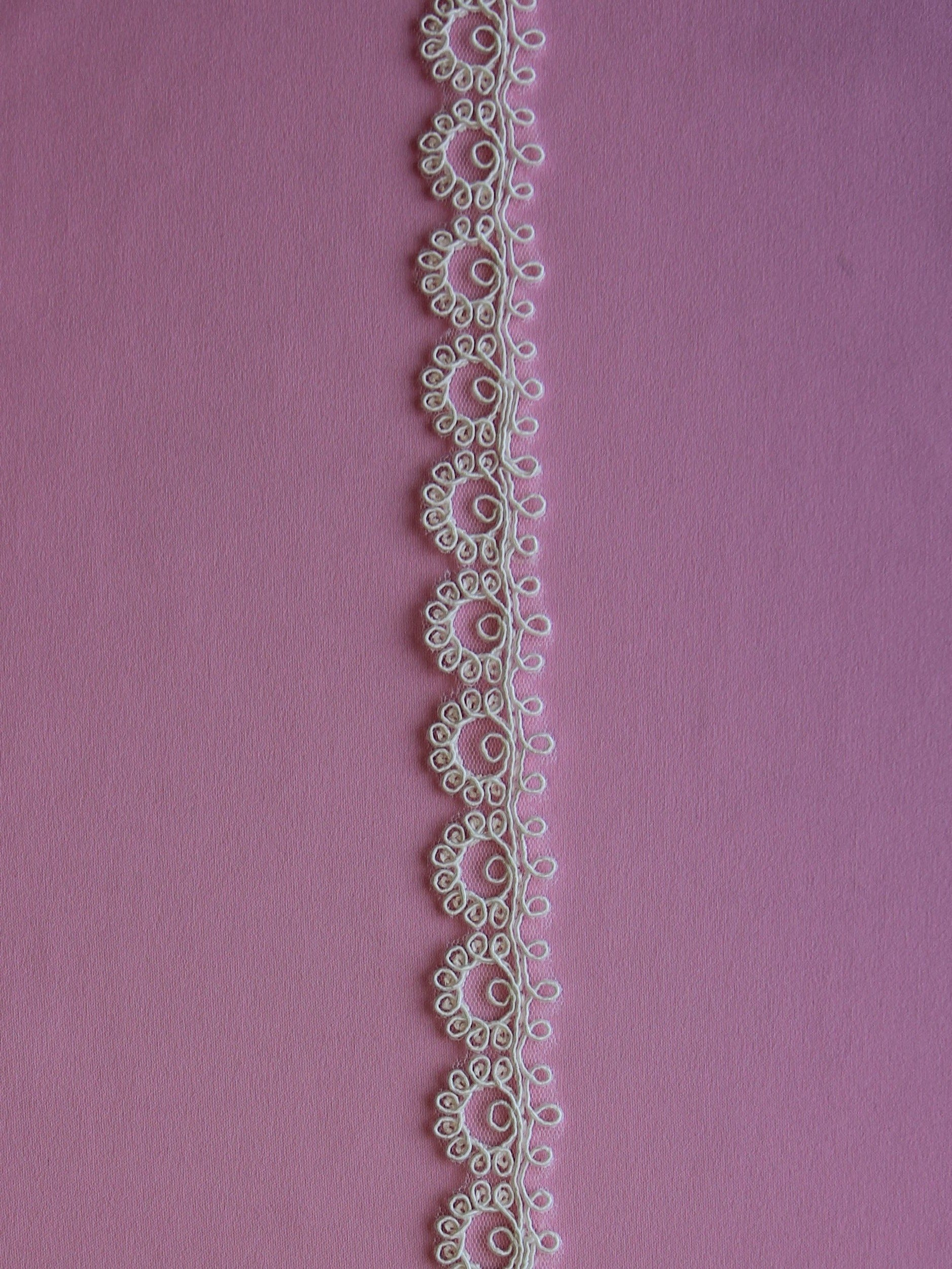 Ivory Corded Lace Trim - Ramson