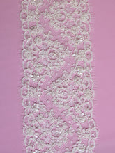 Load image into Gallery viewer, Ivory Corded and Beaded Lace Trim - Polly
