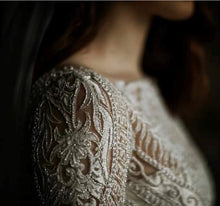 Load image into Gallery viewer, Ivory Hand Beaded Lace - Jaxton