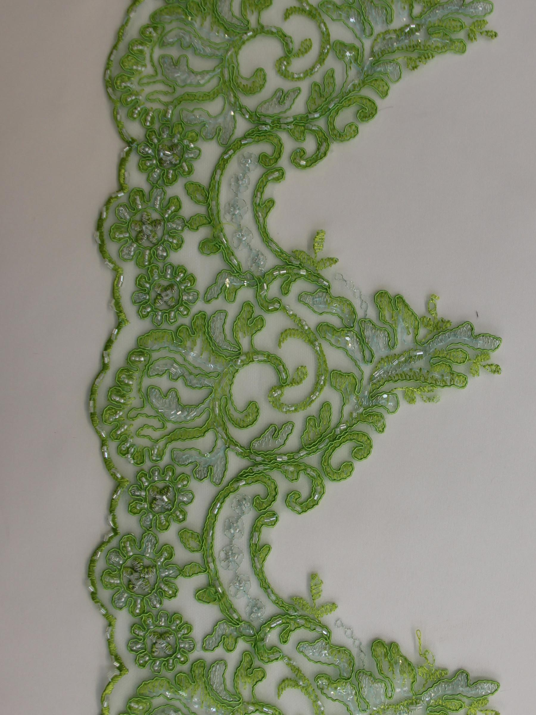 Lime Green Lace Trim - Jessica.