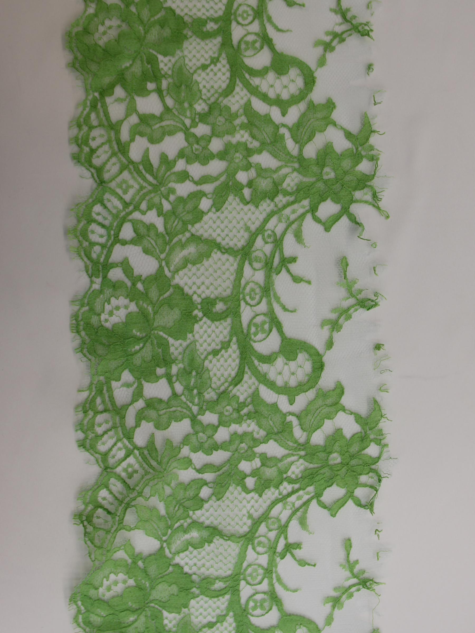 Lime Green Lace Trim - Kate.
