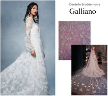 Load image into Gallery viewer, Ivory Embroidered Lace - Galliano