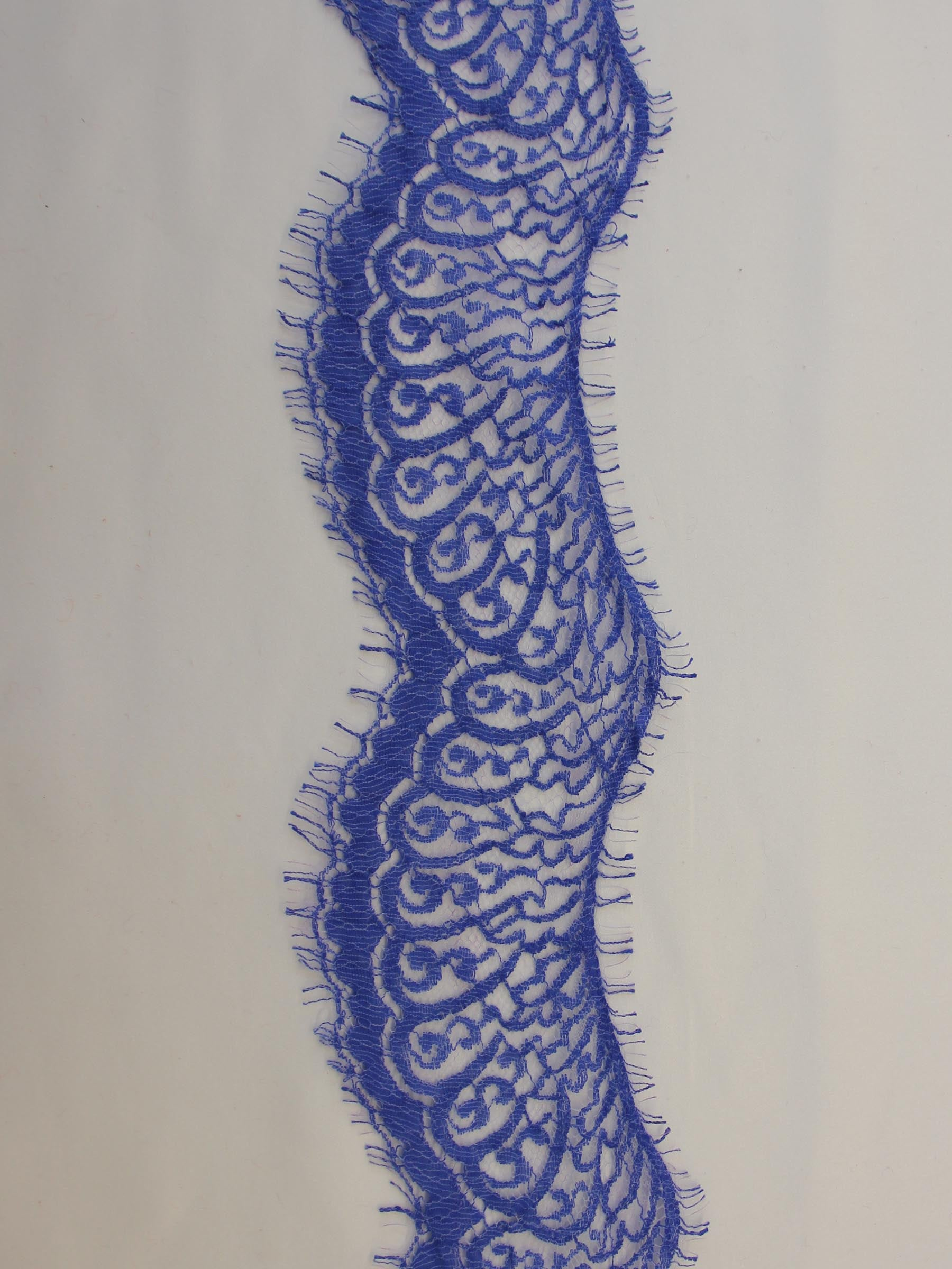 Ocean Blue Lace Trim - Felicity.