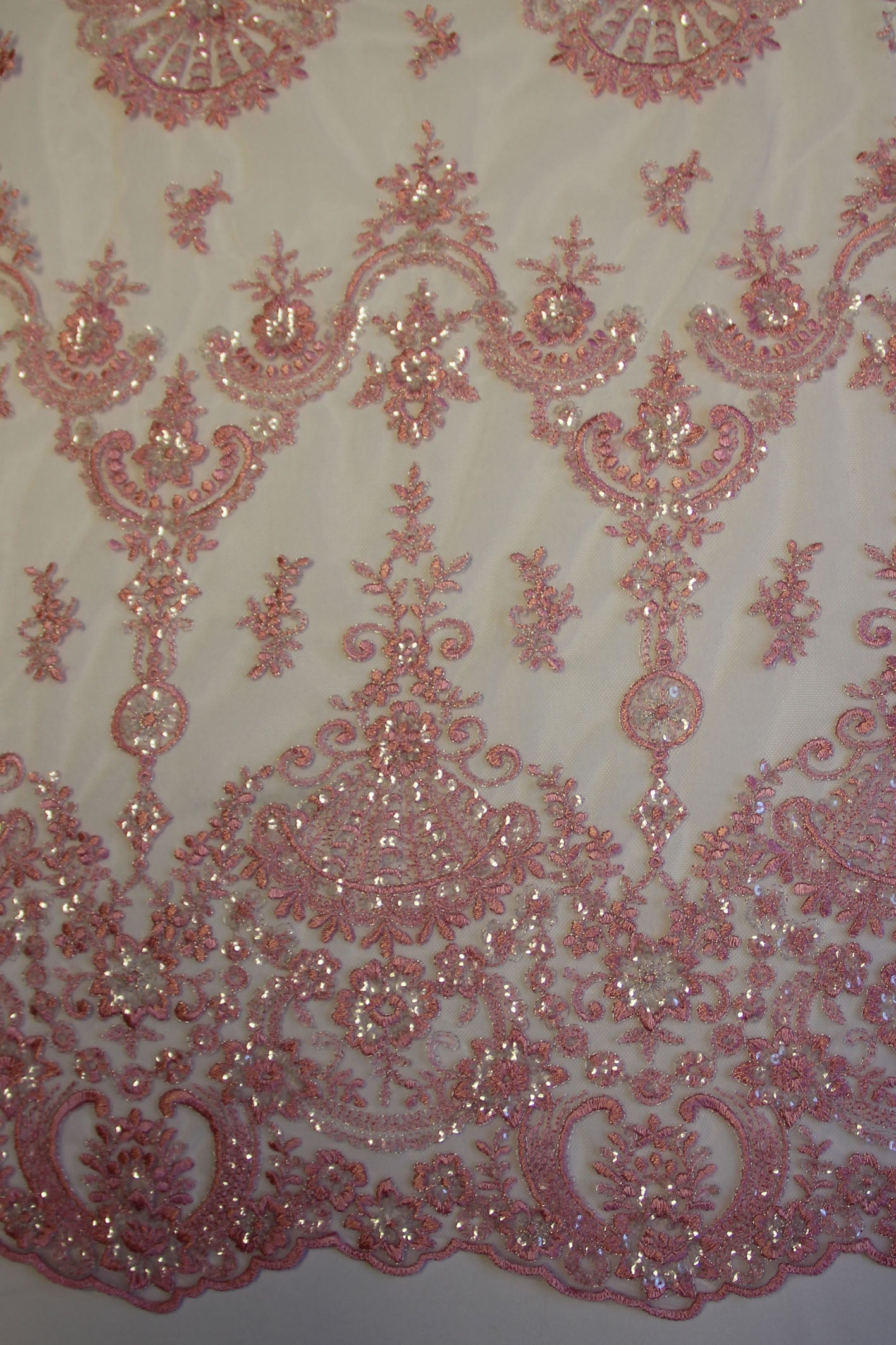 Powder Pink Lace - Ruby.