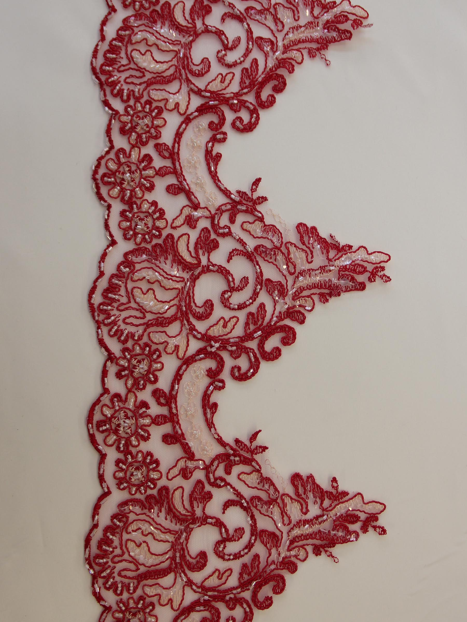 Red Lace Trim - Jessica.