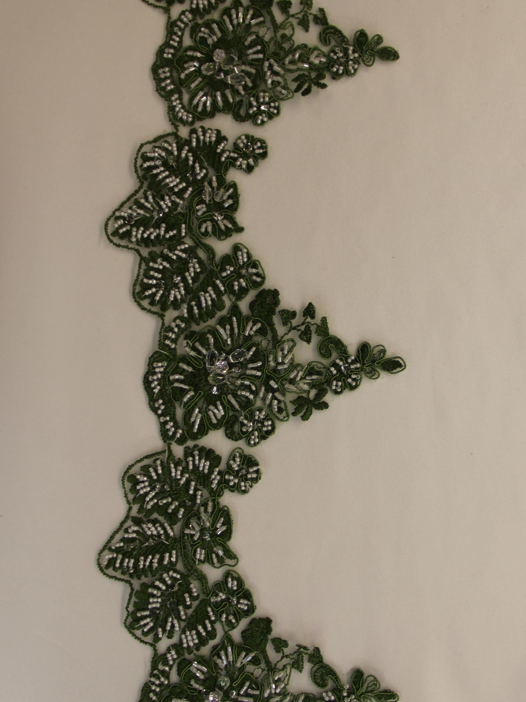 Sage Green Lace Trim - Chelsea.