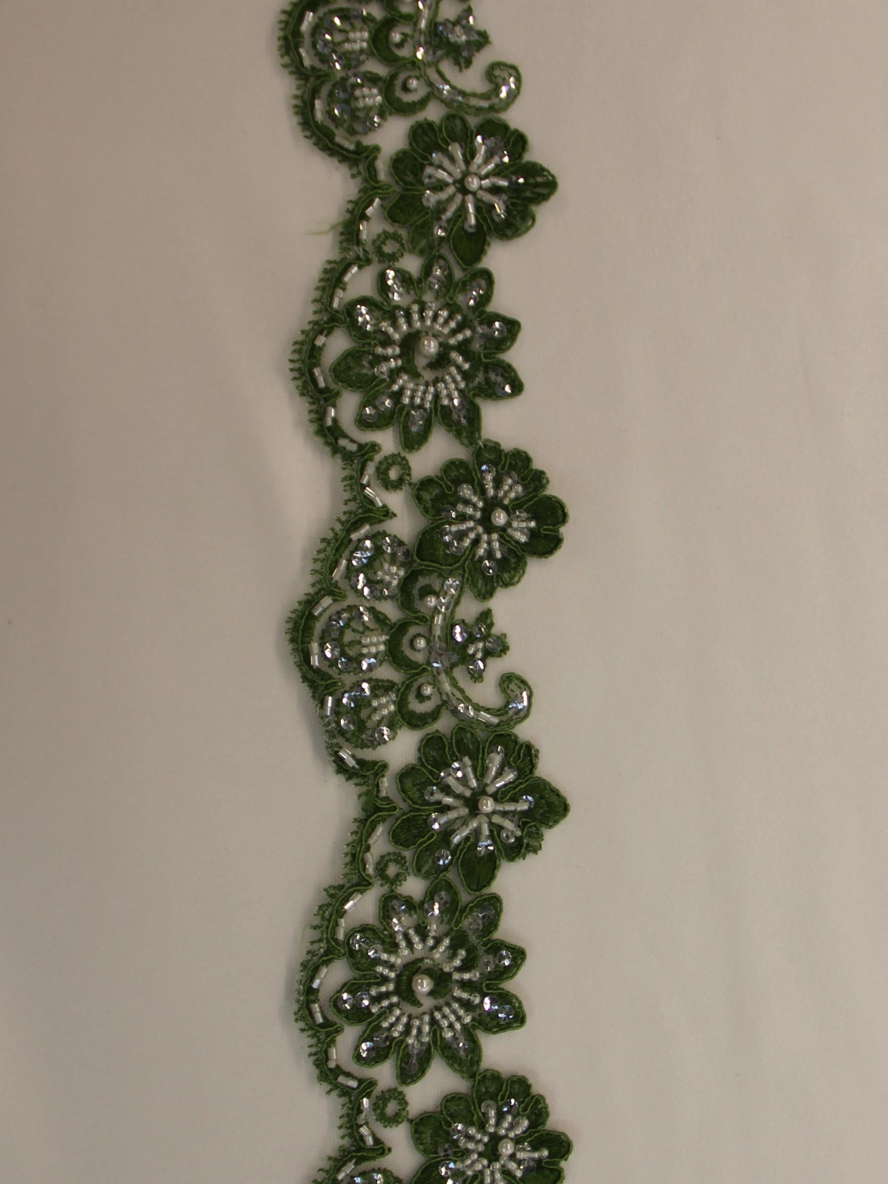 Sage Green Lace Trim - Sheila.