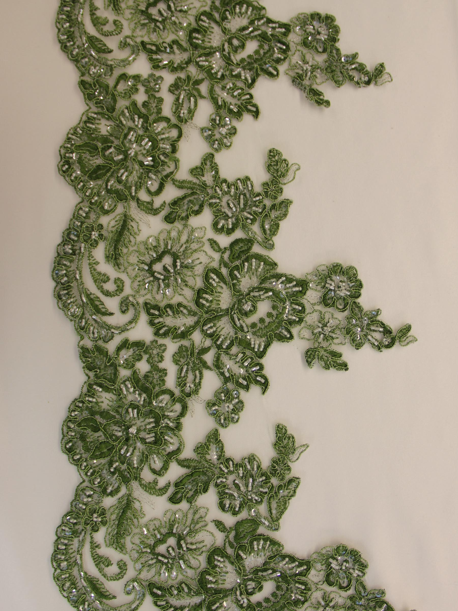 Sage Green Lace Trim - Victoria.