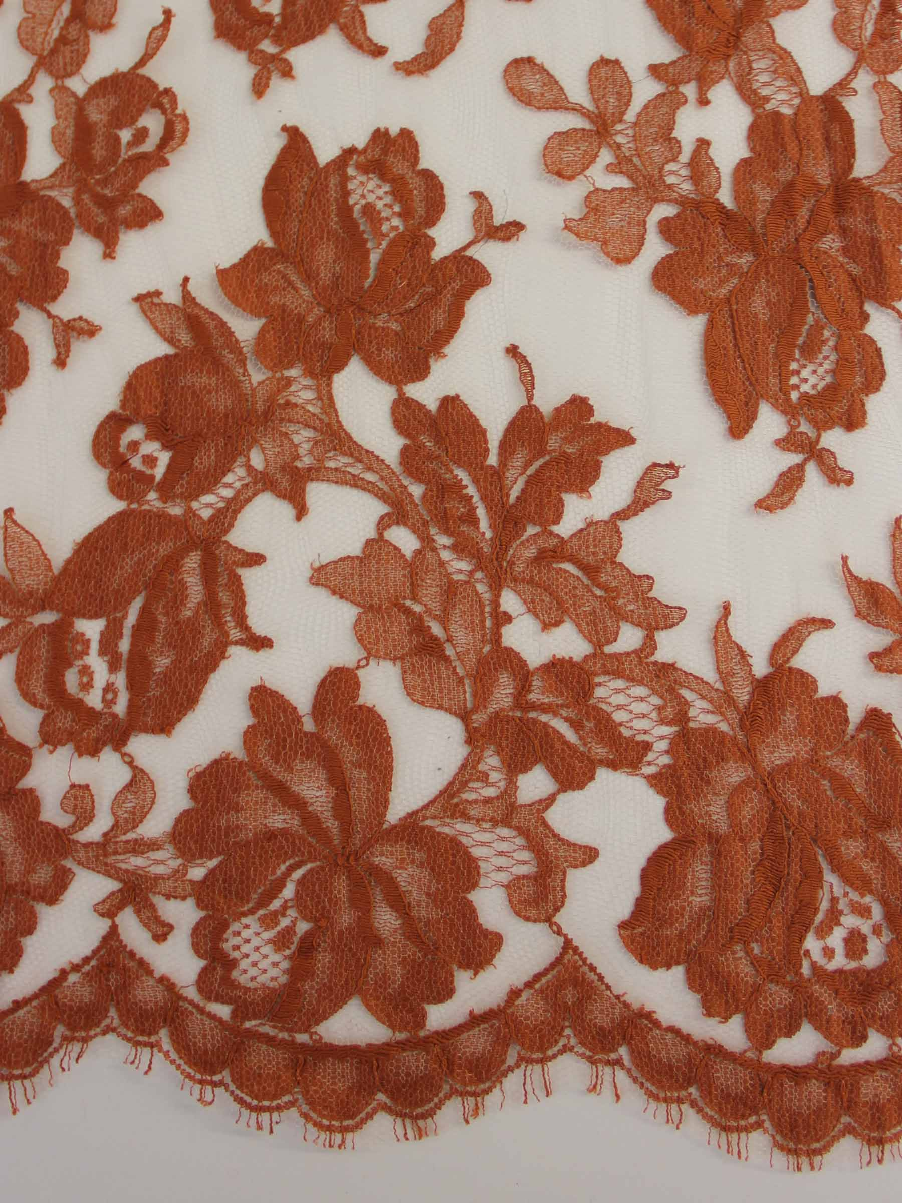 Terracotta Brown Lace - Harper.
