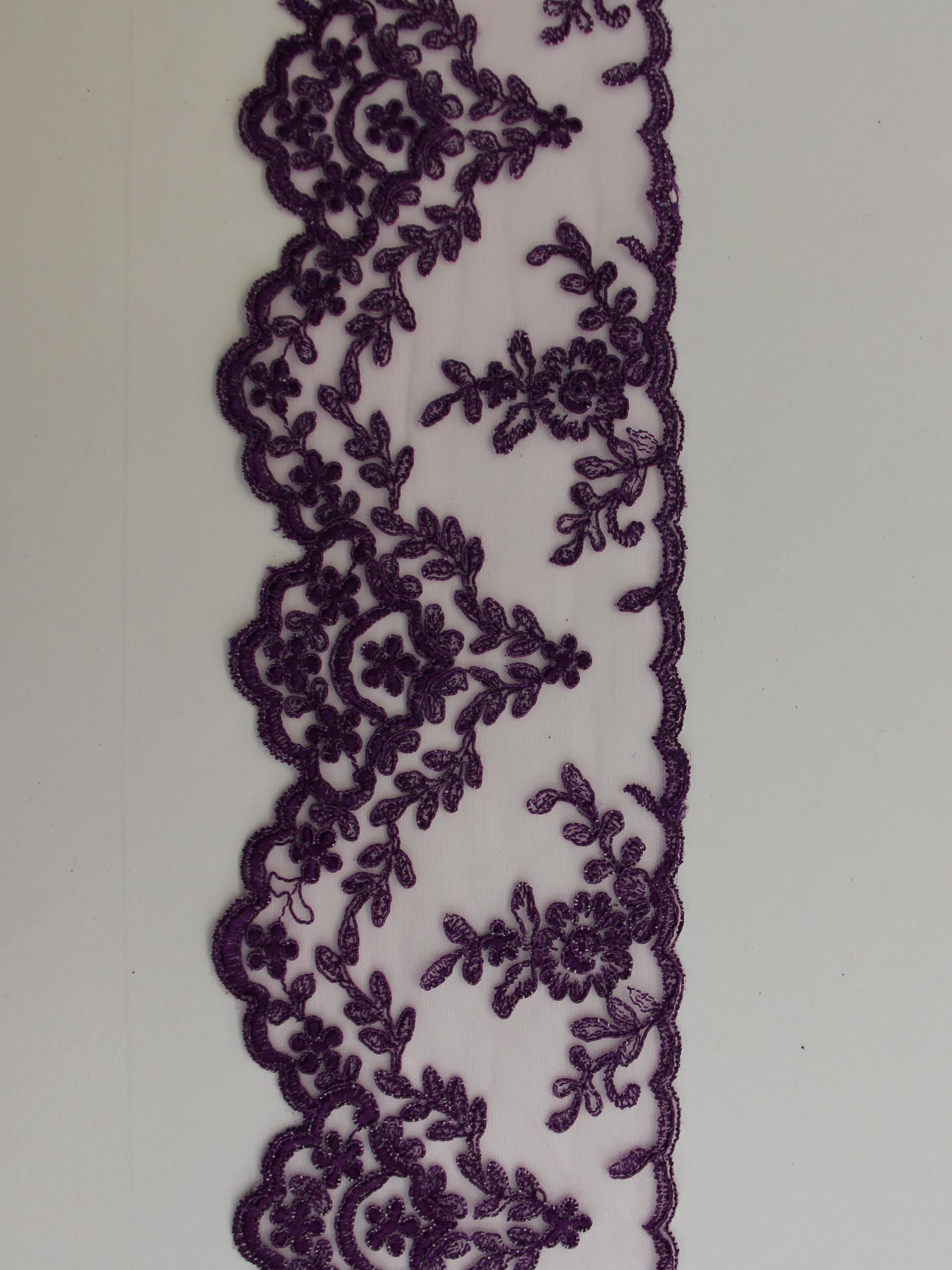 Violet Lace Trim - Kansas.