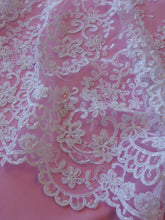 Load image into Gallery viewer, White Beaded Lace - Alexandra