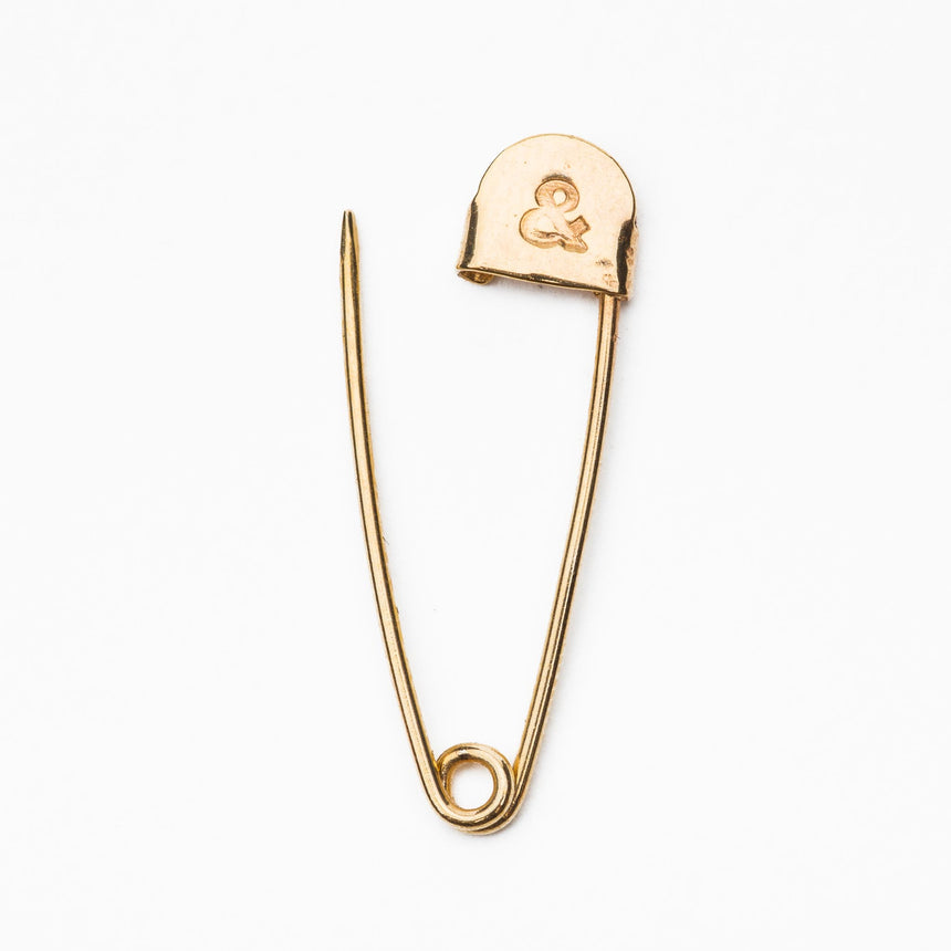 14k Safety Pin Earring