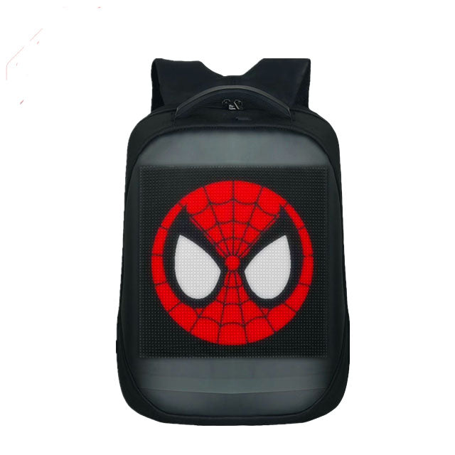 CYB Smart LED Backpack with Customizable Digital Pixel LED Screen with APP - Includes Powerbank