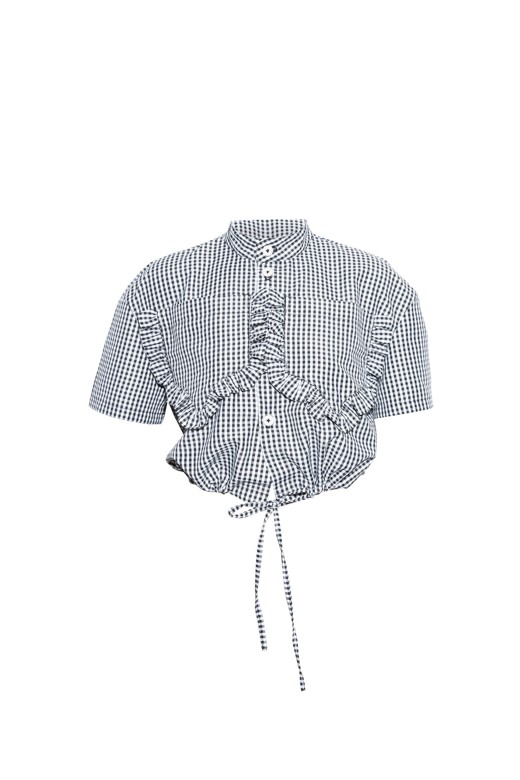 Vichy crop shirt