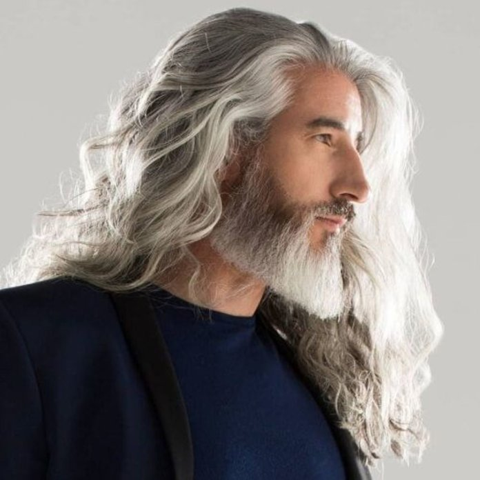 Cheveux longs ondulés + Barbe Yeard