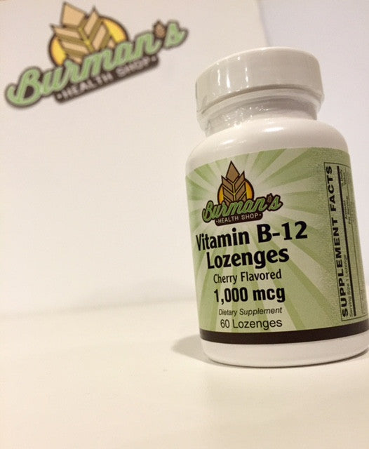 Burman's Vitamin B-12 Lozenges 1,000 mcg Cherry Flavored