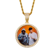 Gold 22 in. Sublimation Rope Chain W/ Picture Pendant(Sublimation Blanks) | Jersey Blanks & More™