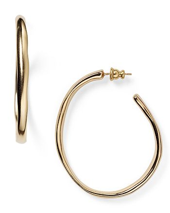 Uno De 50 Ohmmm Gold Tone Hoop Earrings