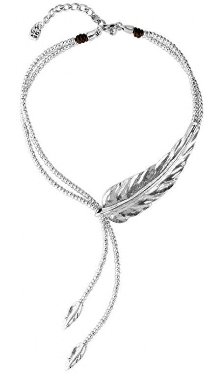 Uno De 50 Pluma Feather Choker