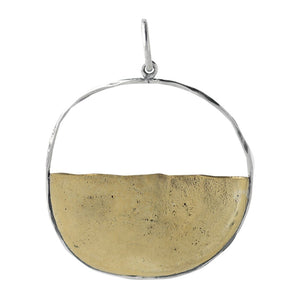 Waxing Poetic Vista Pendant Brass & SS