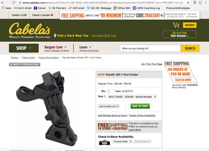 Stealth Rod Holders + Cabelas.com!
