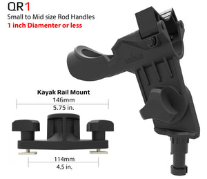 QR-1 Twin Pack with Kayak Rail Mounts