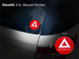 3 In. Round Logo Sticker