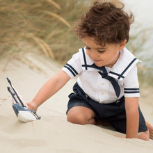 Load image into Gallery viewer, Navy Blue & White Boys Sailor Suit