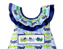 Load image into Gallery viewer, Smocked Alligators Girls Print Sundress