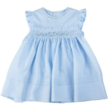 Load image into Gallery viewer, Blue Rose Garden Smocked Dress