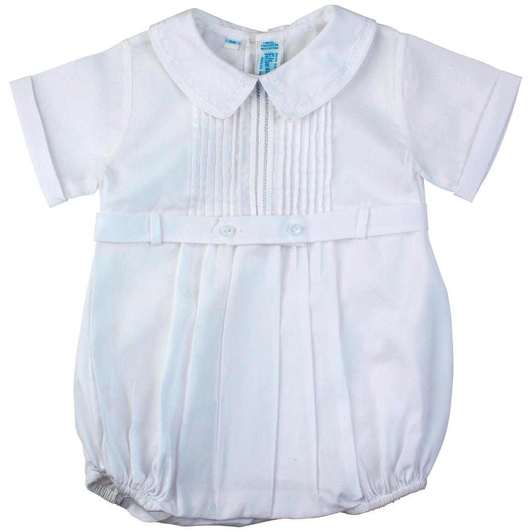 White Belted Infant Creeper