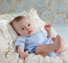 Load image into Gallery viewer, Blue Belted Infant Creeper