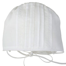 Load image into Gallery viewer, Unisex White Newborn Cap with Lace Inserts