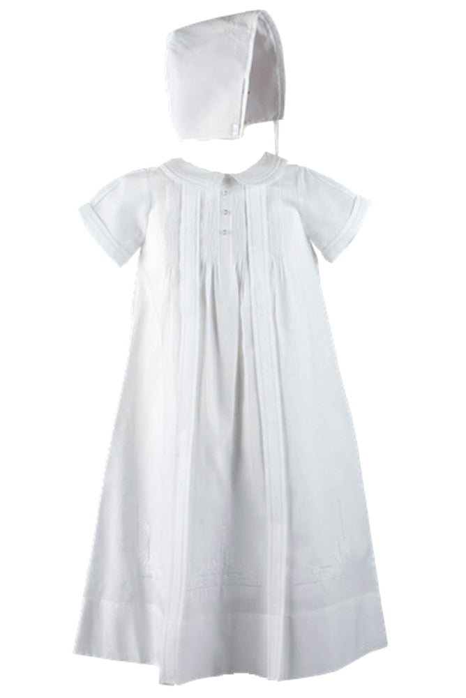 Boys White Christening Gown & Cap