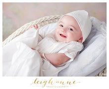 Load image into Gallery viewer, Boys White Christening Gown & Cap