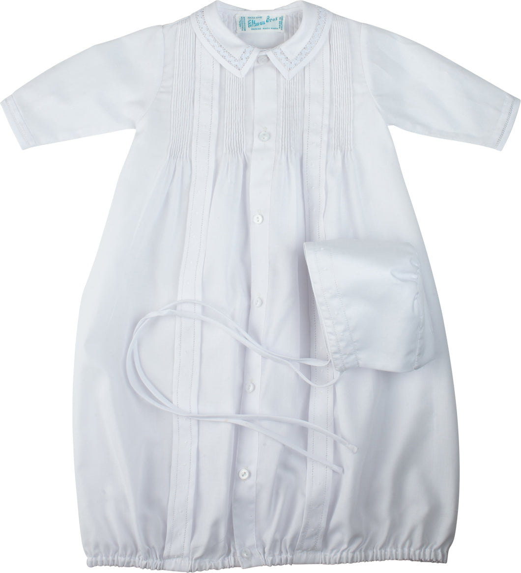 Unisex White Take-Me-Home Gown & Hat
