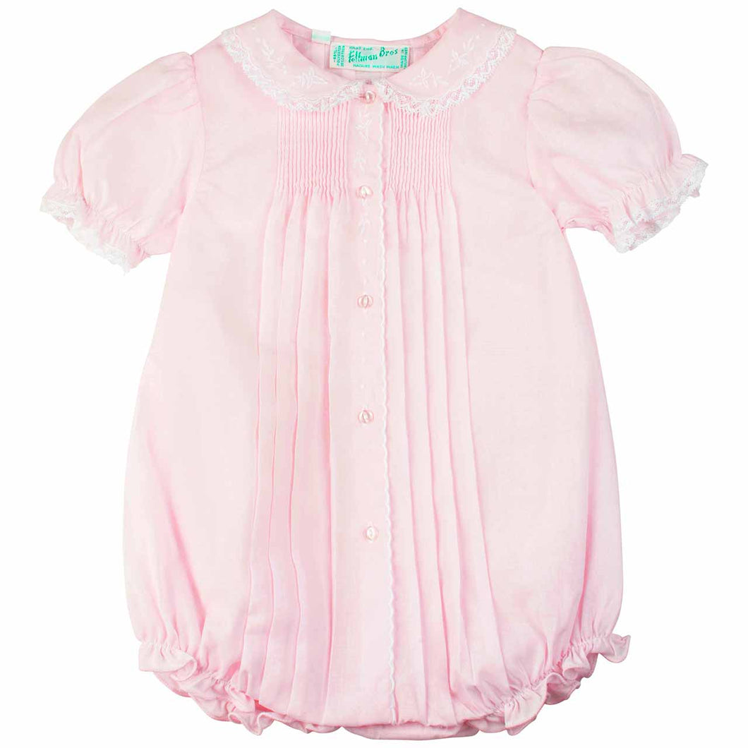 Girls Pink Front Tucked Bubble
