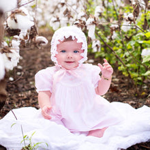 Load image into Gallery viewer, Lace Trimmed Embroidered Pink Baby Dress